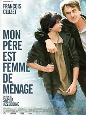 Affiche Pliée 40x60cm MON PÈRE EST FEMME DE MÉNAGE (2011) François Cluzet BE