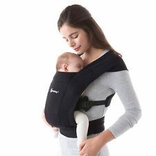 Ergobaby Babytrage Bauchtrage Embrace für Neugeborene ab Geburt - Pure Black