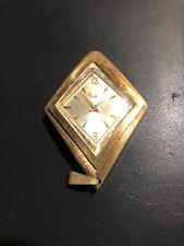 Sheffield Pendant Women Necklace Watch Swiss Made Gold Tone Working One Jewel