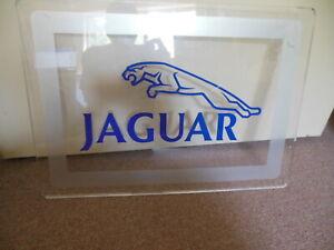 Original 1970's-1980's Jaguar Logo with Leaping Cat Dealer Display Sign Lexan