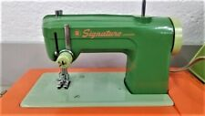 Vintage Signature Junior Sewing Machine w/ foot pedal Working Good condition!