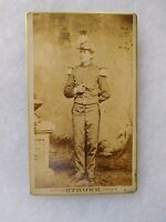CIVIL WAR SOLDIER CDV Reading PA in Band Uniform with Flute or Fife or Piccolo