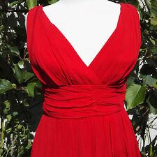 1960 Vintage Dress Red Crepe Clothing