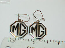 MG Emblem Earrings (Black)