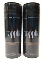 Toppik 2-pk Hair Building Fibers 'Dark Brown' 27.5 g / 0.97 oz New Sealed F6 AA