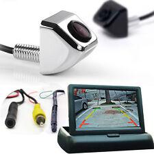 "Car Rear Back Side Front View Backup Parking CCD 170° Camera + 4.3"" Fold Monitor"