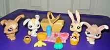 Littlest Pet Shop Lot Bunny Rabbit picnic basket food Accessories treats EASTER