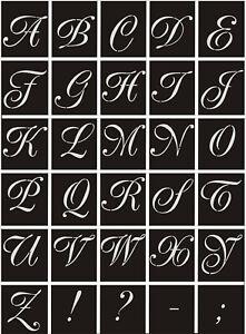 Großbuchstaben A-Z 2-30cm;Schrifttyp-Poet;Stencilart;Schriftschablone;Buchstaben