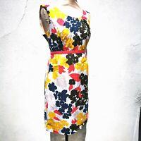 Boden Summer Cotton Dress Sleeveless White Yellow Blue Pink Flower 10