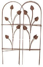 """(10) PANACEA 32""""X 8' FOLDING GARDEN FENCE WITH  LEAVES CAMEO BROWN FENCING 89363"""
