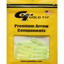 Gold Tip 12pk .246 GT Series Nock Flo Green Archery Arrow #23452 Replacements