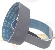 """New listing Butw (3) 800 grit Silicon Carbide lapidary grinding belt 6"""" x 1 1/2"""" drum"""