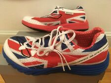 Brooks green silence running shoes mens 7=womens 8.5 Union Jack London Marathon
