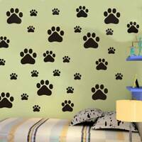 Removable 22pcs Dog Paw STICKERS Car Wall Stickers Decals Graphics paper