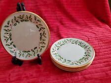 """Lenox Holiday China Bread Plates, 6.25"""""""