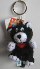 ULI STEIN Plüsch Katze schwarz Plüschkatze Schlüsselanhänger Anhänger Beanbag
