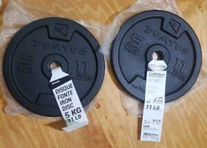 5KG X 6 VINYL PLATES SPECIAL OFFER PRO FITNESS 30KG WEIGHT SET 2959 UK SELLER
