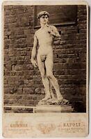 Italia Florence David Da Michelangelo Foto Giorgio Sommer Vintage Albumina c1870