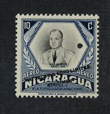 CKStamps: Nicaragua Stamps Collection Scott#C346 H OG Punched Hole Color Trial