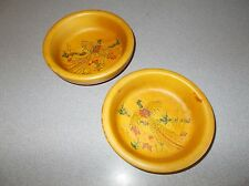 Wooden Bowls Vintage Handcrafted Bethel Wildlife Picture Vermont Serving Bowl