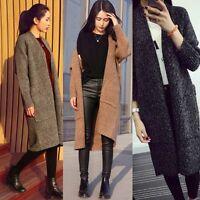 Long Sleeve Women Loose Sweater Knitted Cardigan Coat Jacket Outwear Top Fashion