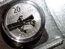 2011 CANADA CANOE SILVER $20 SPECIMEN FINISH, 27MM, PURE SILVER