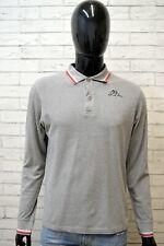 KAPPA Uomo Maglia Taglia L Slim Maglietta Shirt Men's Casual Polo Manica Lunga