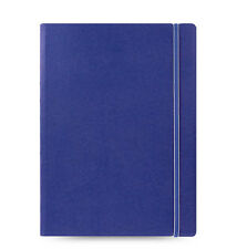 Filofax A4 Size Refillable Leather-Look Ruled Notebook Book Diary Blue - 115024