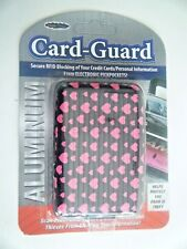 Aluminum Card Guard Secure RFID Blocking Credit Card Holder Black Pink Hearts200