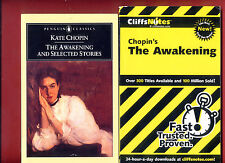 The Awakening by Kate Chopin & Cliff Notes study guide - Free Shipping!