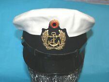 More details for german navy officers visor cap with badges.