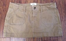 HOLLISTER SoCal Corduroy Mini Skirt Tan/Distressed Size 5 STRETCH