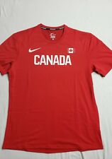Nike Pro Elite Mens Warm up shirt Team Canada Size Medium Track and Field