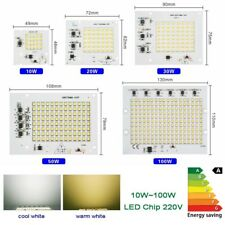 Chip SMD LED 10w 20w 30w 50w 100w Foco Bombilla 220V 240V integrado