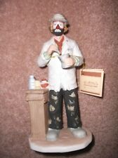 Vintage Emmett Kelly Jr Flambro Collection Clown Pharmacist/Doctor $0 Shipping