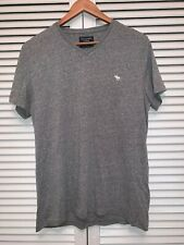 Abercrombie and Fitch Mens Grey T Shirt Size Small V-Neck