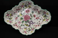 """Vintage James Kent Old Foley CHINESE ROSE Floral w/Birds 11"""" Scalloped Oval Dish"""