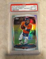 2014 Topps Chrome 42 Peyton Manning Orange Jersey Refractor PSA 10 Gem Mint 🔥🔥