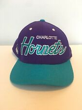 Charlotte HORNETS Mitchell & Ness Snapback Adult Baseball Cap Hat