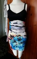 Ladies floral fitted strappy top/dress, size S, BNWT, Zara Trafaluc