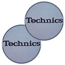TECHNICS SLIPMATS (METAL BLUE) coppia panni sottodisco x giradischi turntable