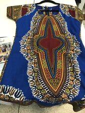 Ladies Dashiki Blue Dress Size 10/12