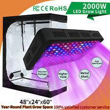 """2000W Hydroponics Grow Light Kit Full Spectrum w/ 48""""x24""""x60"""" ; Grow Tents Box"""