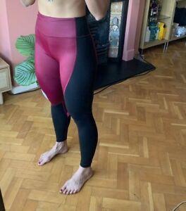 VICTORIA SECRET shiny leggings pro workout gym yoga lycra slinky high waist VSX