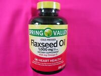 Flaxseed Oil 1000 MG Per Softgel Dietary Supplement 200 Softgel .450 MG Omega-3