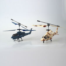LED Remote Control Helicopter Radio Military Simulation Fighter Model 2 Channel