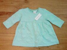New Bluezoo Baby Heart Pattern Textured Jersey Dress Aqua Age 3-6 Months