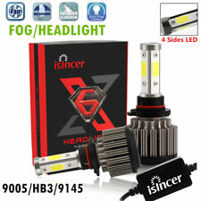 2x 4-Side 9005 HB3 LED Headlight Kit 1500W 198000LM High Beam 6000K Fog Lamp US