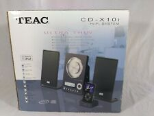 New Teac CD-X10i Micro Hi-Fi System Ultra Thin AM/FM AUX Made For iPod