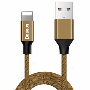 Baseus Yiven Braided Charging Data USB lightning Cable for iPhone / iPad Coffee